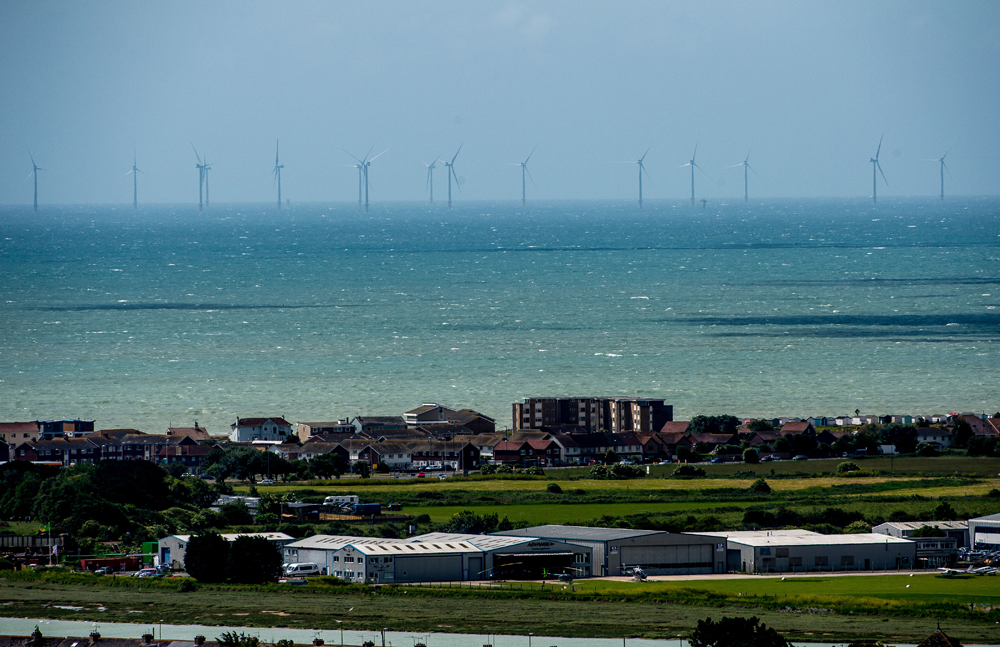 Rampion 1 Wind Farm South Downs View