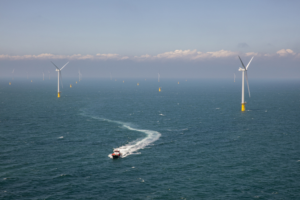 Speedboat Slalom Between Turbines at Rampion 1 Wind Farm