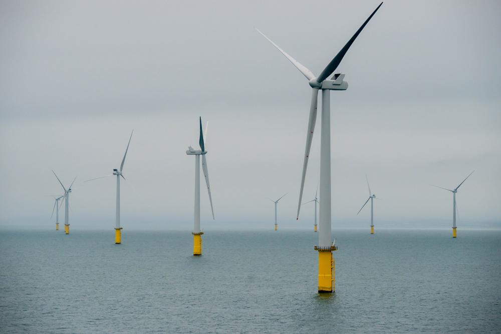 Rampion 1 Wind Farm Grey Skies Turbines